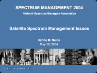 Satellite Spectrum Management Issues