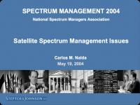 Satellite Spectrum Management Issues