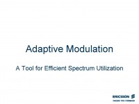 Adaptive Modulation: A Tool for Efficient Spectrum Utilization