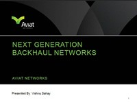 Next Generation Backhaul Networks