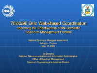 70/80/90 GHz Web-Based Coordination
