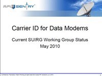 Carrier ID for Data Modems