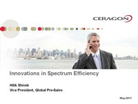 Innovations in Spectrum Efficiency