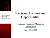 Spectrum Auctions & Opportunities