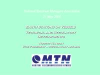 ESV Operations - Regulatory Developments