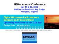 Digital Microwave Radio Network Design in an IP Environment - Upcoming Revisions to TIA TSB 10F