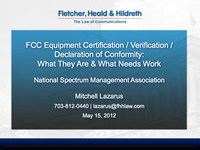 FCC Equipment Certification / Verification / Declaration of Conformity: What They Are & What Needs Work