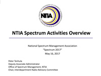 NTIA Spectrum Activities Overview