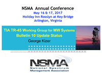 TIA TR-45 Working Group for MW Systems Bulletin 10 Update Status