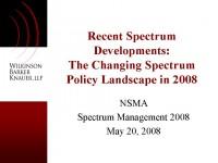 Recent Spectrum Developments
