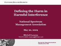 Defining the Harm in Harmful Interference