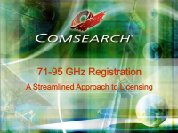71-95 GHz Registration