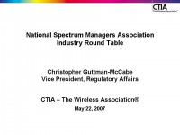 Industry Roundtable: CTIA