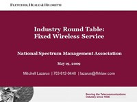 Industry Round Table: Fixed Wireless Service