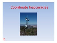 Coordinate Inaccuracies