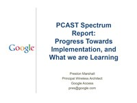 Moving Ahead with PCAST Spectrum Sharing Recommendations on 3.5 GHz
