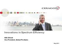 Innovations in Spectrum Efficiency