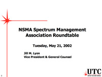 NSMA Spectrum Management Association Roundtable
