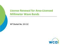 License Renewal for Area-Licensed Millimeter Wave Bands