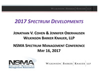 2017 Spectrum Developments