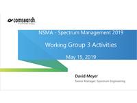 Working Group 3 Activities